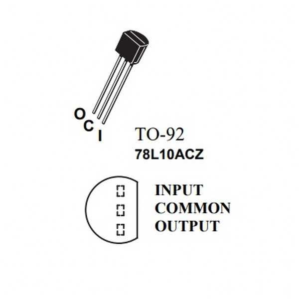 Voltaj Regülatörü - 78L10ACZ Regülatör