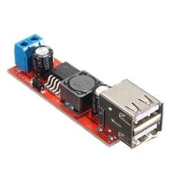 Çift USB Çıkışlı 9V- 12V - 24V - 36V - 5V Dönüştürücü DC 3A - Thumbnail