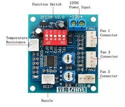 CPU Fan Hız Kontrol Modülü - Yüksek Sıcaklık Alarmı - Thumbnail