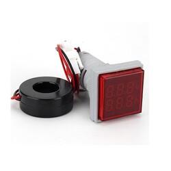 Dijital AC Voltmetre - Ampermetre Kırmızı - Thumbnail