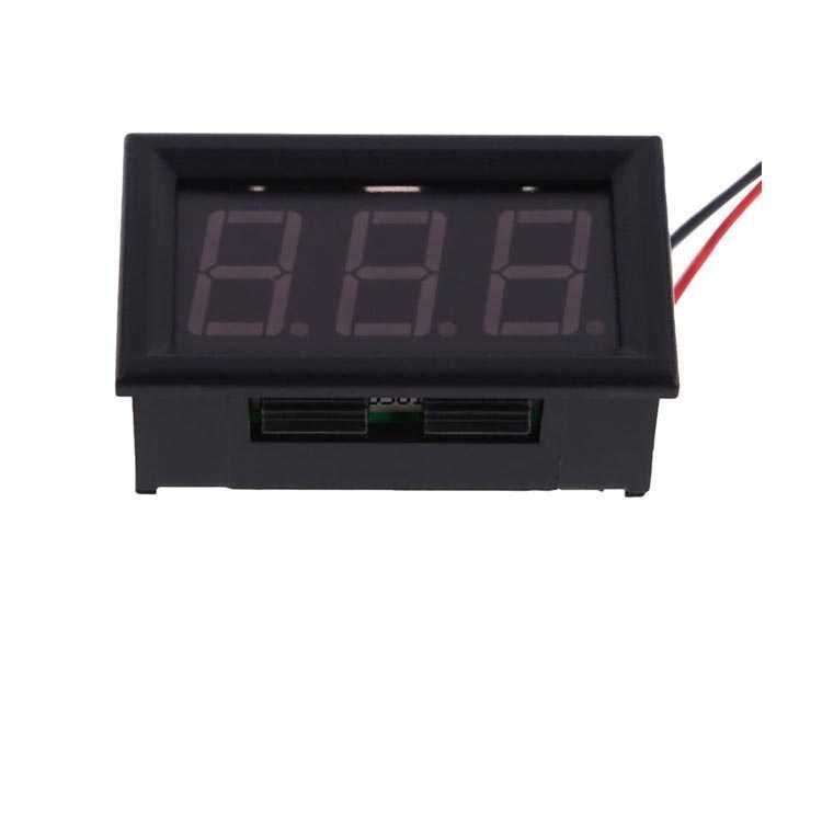 Dijital Voltmetre DC 0-100V Kırmızı