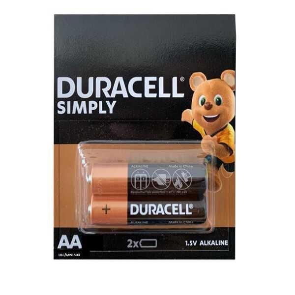 Duracell Alkaline AA Kalem Pil 1.5 V-2 Adet