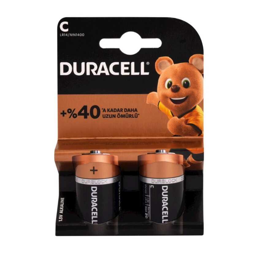 Pil - Duracell C Orta Pil 2'li