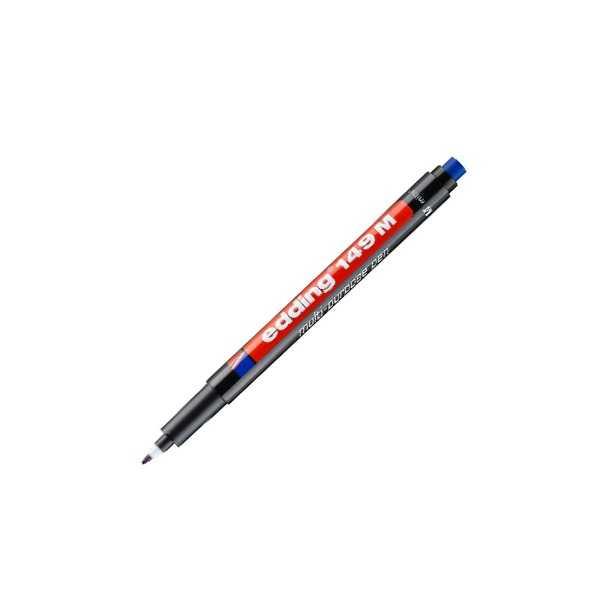 Atölye Malzemeleri - Edding 149M Asetat Kalemi 1mm Yuvarlak Uçlu - Siyah