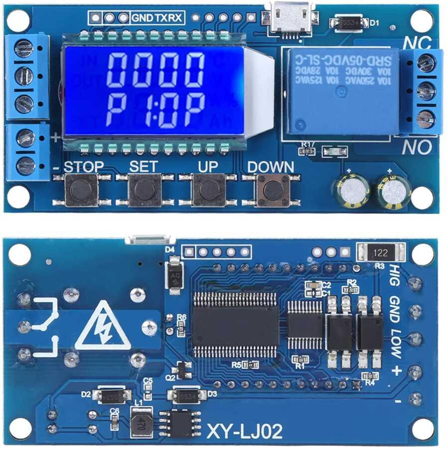Ekranlı Zaman Ayarlı Röle Modülü XY-LJ02