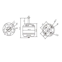 Emax Xa2212 820Kv Fırçasız Motor - Thumbnail