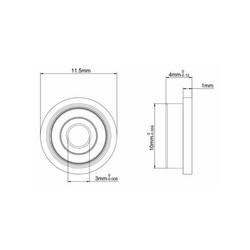 F623ZZ Flanşlı Rulman - Thumbnail