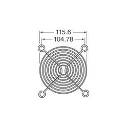 Fan Teli - 120X120mm - Thumbnail