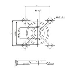 Fan Teli - 40X40mm - Thumbnail