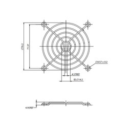 Fan Teli - 80X80mm - Thumbnail