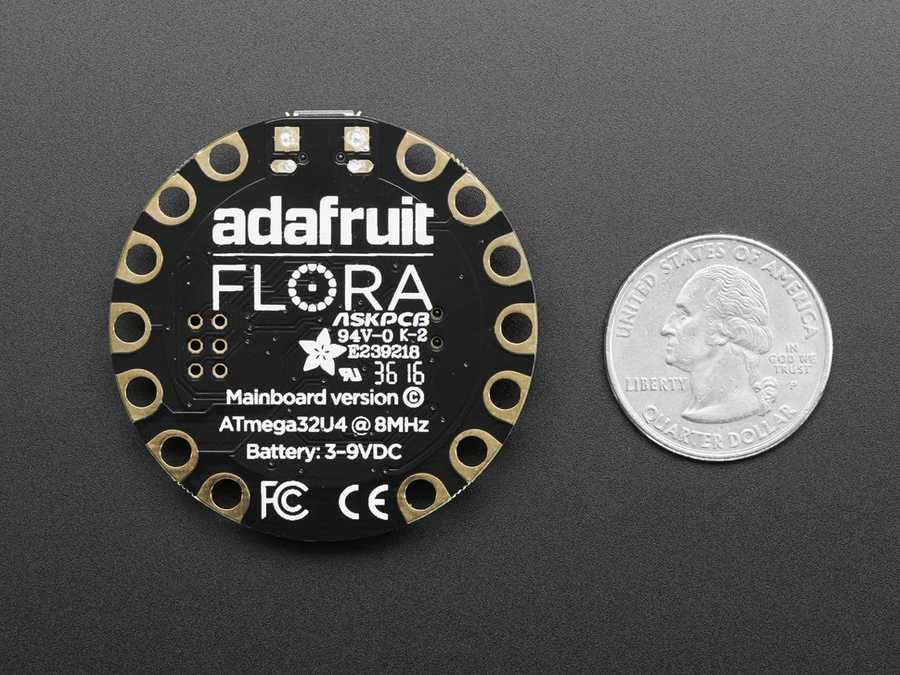 Arduino Tabanlı Geliştirme Kartları - FLORA -V3 Giyilebilir Elektronik Platform - Arduino uyumlu