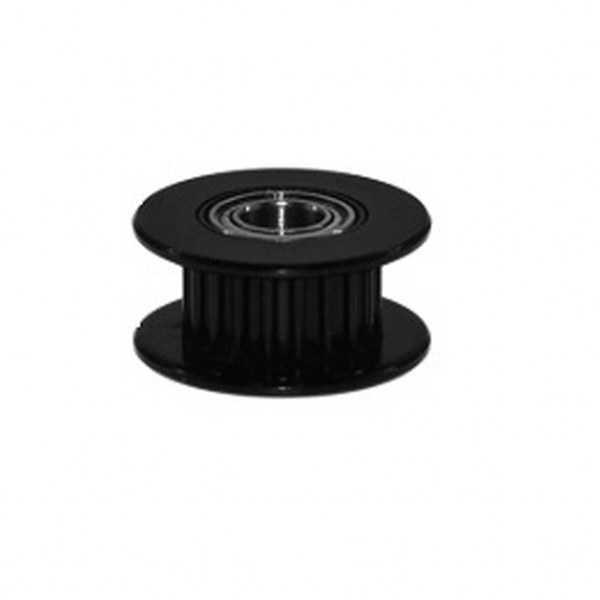 3D Yazıcı Parçaları - GT2 6mm 20 Diş Rulmanlı-5mm Kasnak-Siyah