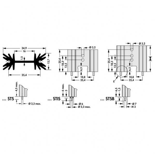 Heatsink-Soğutucu TO-220 - Klips Montaj