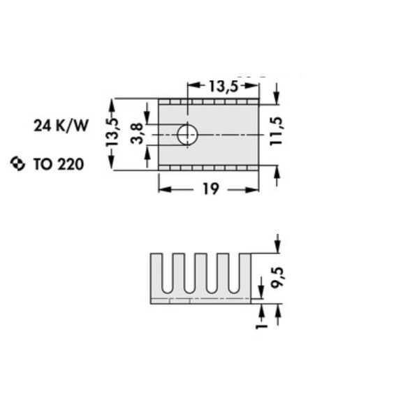 Heatsink-Soğutucu TO-220 - Vida Montaj
