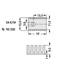 Heatsink-Soğutucu TO-220 - Vida Montaj - Thumbnail