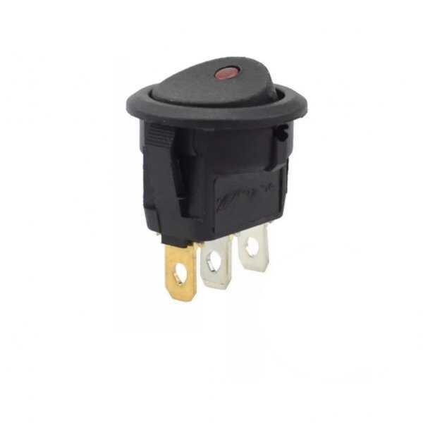 Switch - IC-132 Yuvarlak Nokta Işıklı Anahtar ON-OFF 3P 220 Volt