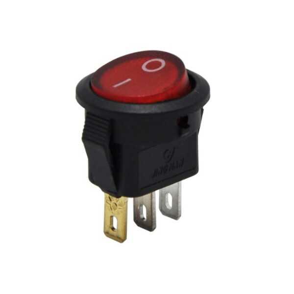 Switch - IC-134D Mini Yuvarlak Anahtar Işıklı ON-OFF 3P
