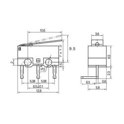 IC-162D Micro Switch Mini 90 Derece - Thumbnail