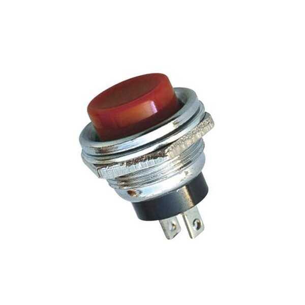 IC-180 Buton 16mm - Kırmızı