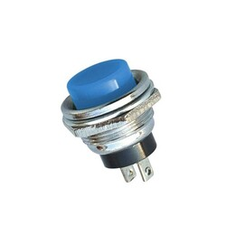 IC-180 Buton 16mm - Mavi - Thumbnail