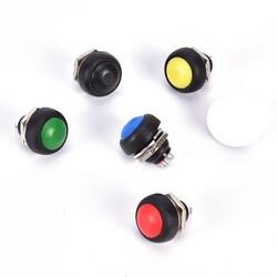 IC-184 Buton 12mm PBS33B - Siyah - Thumbnail