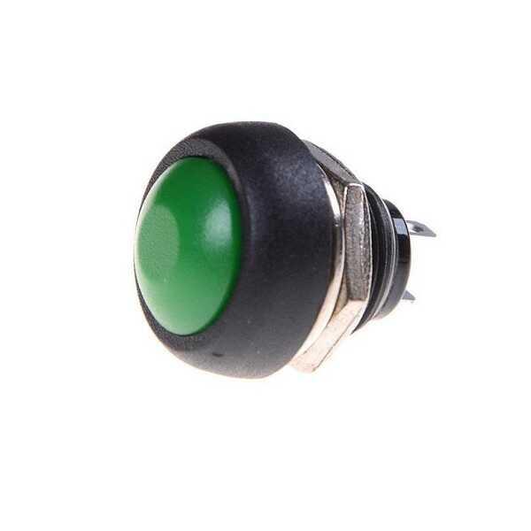 Buton - IC-184 Buton 12mm PBS33B - Yeşil