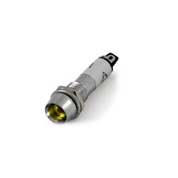 IC-225 Sinyal Lambası 8mm Metal 220V - Sarı