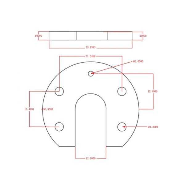 3D Yazıcı Parçaları - J-Head Hotend Aluminyum Montaj Plakası U-Shaped