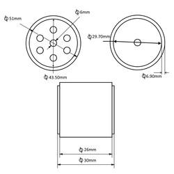 JS5230 Silikon Tekerlek - 2 Adet - Thumbnail