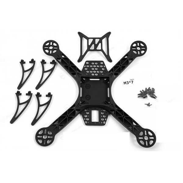 Drone Bileşen ve Yedek Parçaları - KK260 Siyah Naylon 4 Eksenli Quadcopter Gövde (Frame) Takımı