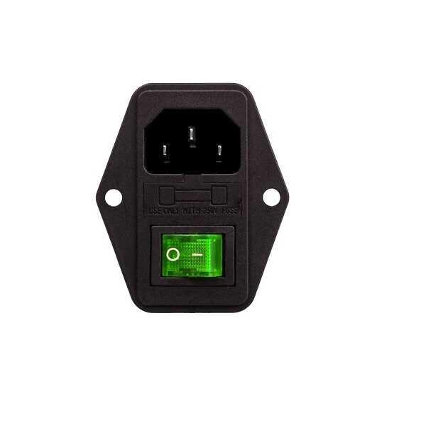 Kulaklı Erkek Power Soketi - Yeşil Işıklı Anahtarlı
