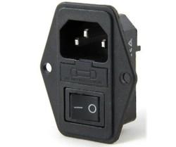 Kulaklı Power Soketi - Erkek&Anahtarlı - Thumbnail