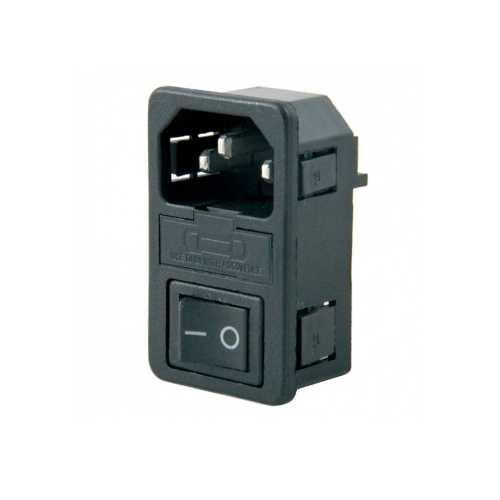 Kulaksız Power Soketi - Erkek&Anahtarlı&Fuseli