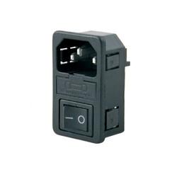Kulaksız Power Soketi - Erkek&Anahtarlı&Fuseli - Thumbnail
