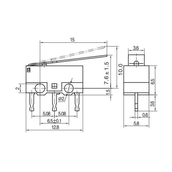 Switch - KW10-Z2P Micro Switch