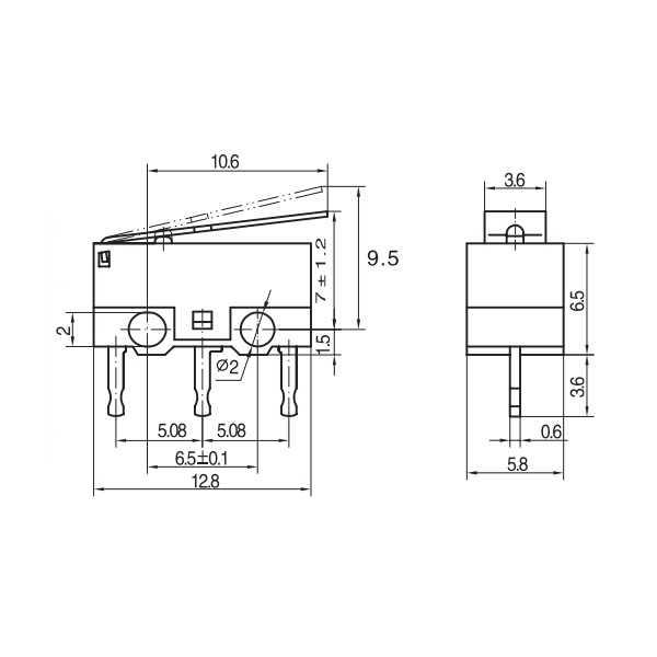 Switch - KW10-Z3P Micro Switch