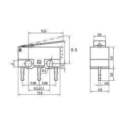 KW10-Z3P Micro Switch - Thumbnail
