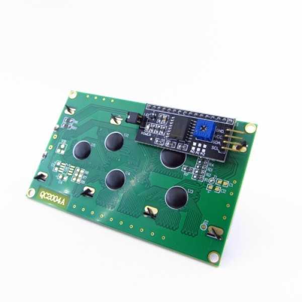 LCD 20x04 + 1602 I2C Arayüzü Modülü