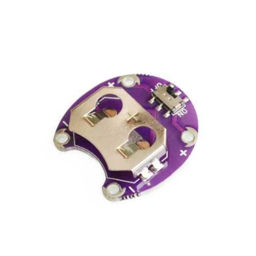 Giyilebilir - Dikilebilir Teknoloji - LilyPad CR2032 Batarya Yuvası