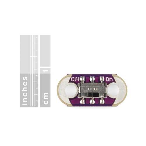 Giyilebilir - Dikilebilir Teknoloji - LilyPad Slide Switch