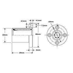 LMEF10UU Lineer Rulman - Thumbnail