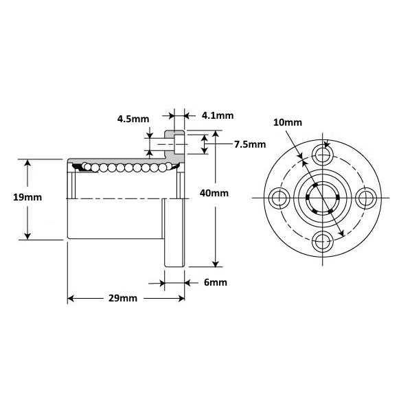 Rulman - LMEF10UU Lineer Rulman