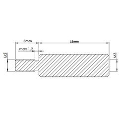 M3 15mm Metal Dişi-Erkek Aralayıcı - (Standoff) - Thumbnail