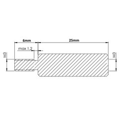 M3 25mm Metal Dişi-Erkek Aralayıcı - (Standoff) - Thumbnail