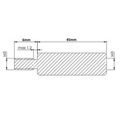 M3 45mm Metal Dişi-Erkek Aralayıcı - (Standoff) - Thumbnail