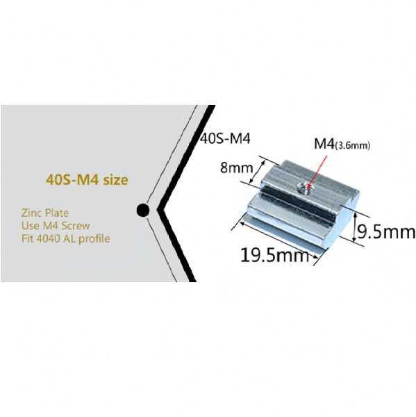 Sigma Profil Bağlantı Aksesuarları - M4/40 T Kanal Somun