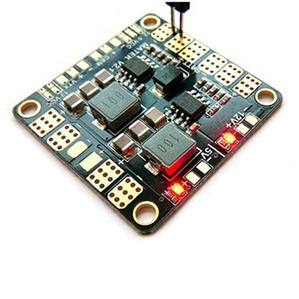 Drone Bileşen ve Yedek Parçaları - Matek Mini Power Hub w/ BEC 5V-12V