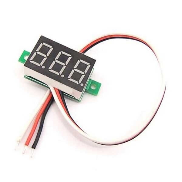Mini Voltmetre 0-100V - Kırmızı