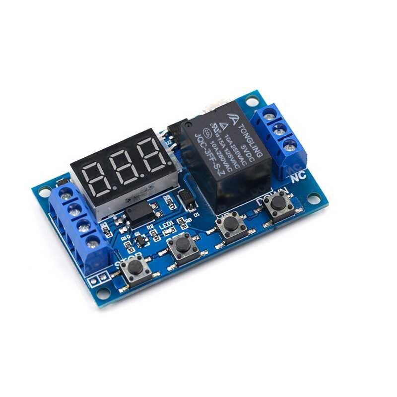 Çok Fonksiyonlu Zaman Ayarlı Tekli Röle Kartı 6-30V/USB(5V)
