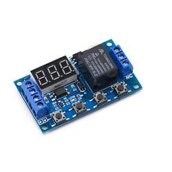 Çok Fonksiyonlu Zaman Ayarlı Tekli Röle Kartı 6-30V/USB(5V) - Thumbnail